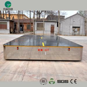 China Battery operated steerable motorized trackless transfer car on cement floor on sale