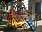 220 V / 380 V Gyro Spin Ride , Gyroscope Amusement Ride With Trailer