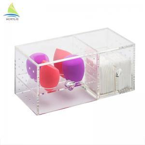 China Top Quality Custom Promotion Makeup Acrylic Cotton Pad Swabs Storage Box on sale