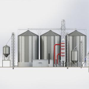China Commercial Steel Grain Bin / Metal Grain Silo For Storage Corn Long Service on sale