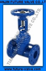 China DIN3352-F5 Cast Iron Rising Stem Resilient Gate Valves on sale