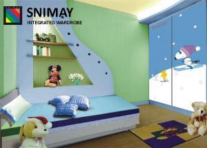 China Custom Kids Bedroom Furniture Sets , Wardrobe Closet lovely Furniture set on sale