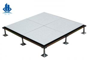 China Core Edge Banded Calcium Sulphate Raised Access Floor Panles Anti - Static on sale