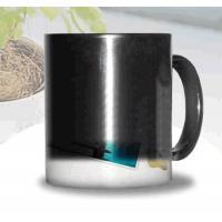 Certification SGS/CE custom LOGO for the change colors mug WITH HANDLE printting photos ceramic cup magic mug