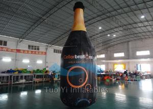 China Huge Inflatable Liquor Bottles PVC Tarpaulin Floating Bottle Display on sale