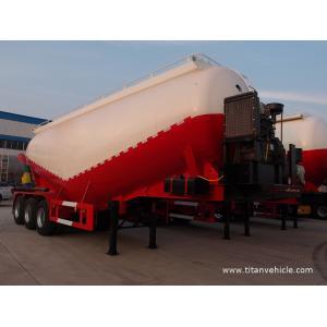 China 40T cement bulker triple axle bulk cement silo truck horizontal cement silo - TITAN VEHICLE on sale