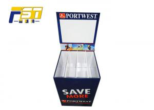 China Square Backplane Style Retail Dump Bin Display Single Sided For Convenient Store on sale