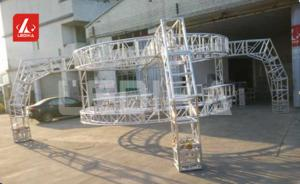 China Square Silver Stage Light Truss / Lighting Truss System Aluminum For Outdoor 18m Span on sale