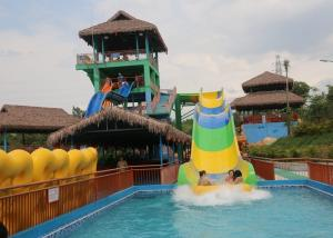 China Commercial Grade Rafting Long Water Slide Games Water Park Equipment for Family on sale