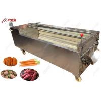 Hot sale automatic efficient  fruit and vegetable washing and peeling machine