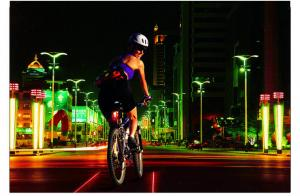 China 8LEDs Rechargeable Bicycle Safety Rear Laser Lights on sale