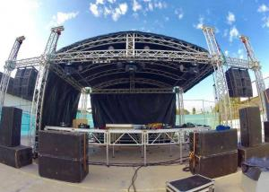 China Affordable External Aluminum Roof Truss Arch Dome Shape For Large Event on sale