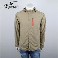 New Arrival Casual Outdoor Clothing Long Sleeve Mens Hiking Jacket Plain Dyed