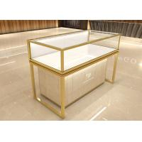 Luxurious golden jewelry display showcase fashion jewelry shop decoration design with display cabinet