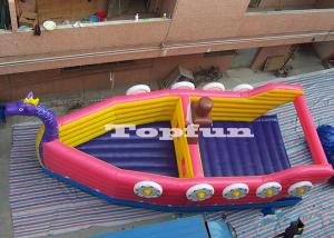 China Double Stitch Inflatable Dragon Boat , Custom Reinforced Inflatable Bouncy Barque on sale