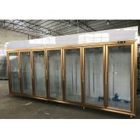 Split Type Glass Display Showcase Vegetable / Dairy Island Combination
