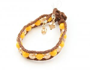 China yellow beads bracelet fashion jewelry on sale