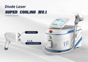 China Diode Laser Hair Removal Machine Super Cooling Powerful Epilator 755 808 1064 Nm Triple Wavelength on sale