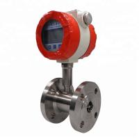 China Liquid nitrogen gas turbine flow meter with flange connected on sale