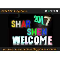 Rechargeable Acrylic LED Illuminated Letters Sign Vintage LED Pillar Lights 16 Colors Changing