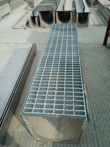 China polymer channel, Polymer concrete drainage channel,galvanised steel grating with solid bar on sale