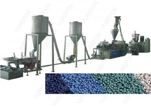 China 3 - 4 MM Plastic Flakes Recycling Machine , PVC Plastic Granules Making Machine on sale