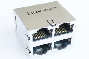 Quality PC Mainboard RJ45 empilé par norme Magjack avec l'Étiquette- SI-30159-F de LED for sale