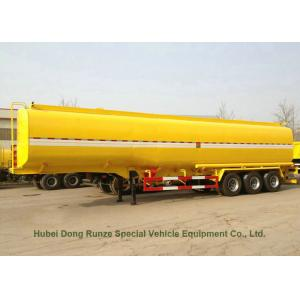 China Carbon Steel 3 Axles Tank Semi Trailer For Diesel , Oil , Gasoline , Kerosene Transport on sale