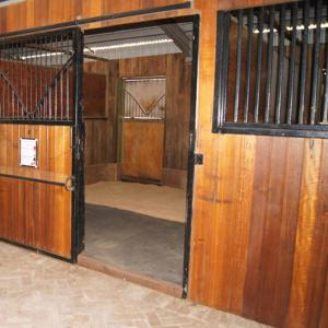 China Eco Friendly Horse Stall Doors , Carbonized Bamboo Small Horse Barns on sale