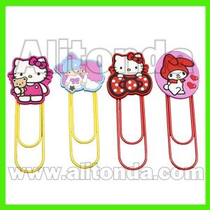 China Cute cartoon figure cat mouse owl animal shape bookmark with clips on sale