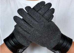 China Dark Grey Ladies Touch Screen Gloves , Winter Gloves With Touch Screen Fingers  on sale