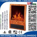 registre el sitio de madera portátil eléctrico del climat del final de las estufas NDY-20D del calentador de la chimenea del LED del efecto ardiente de la llama/el calentador interior
