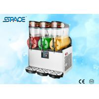 Triple Bowl Frozen Drink Slush Machine , Frozen Beverage Machine High Efficiency