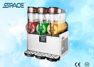 China Triple Bowl Frozen Drink Slush Machine , Frozen Beverage Machine High Efficiency on sale