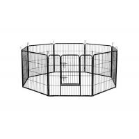 China Black Silver Strong Metal Puppy Dog Play Pen Square Tube 1.5m Width on sale
