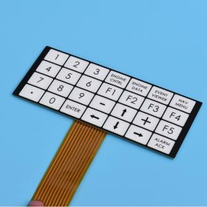 China Flexible Embossed Pcb Membrane Switch Fpc With 2.54mm Female Connector on sale