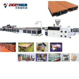 China Plastic Profile WPC Extrusion Machine , PVC Wood Tile Die Extrusion Line on sale