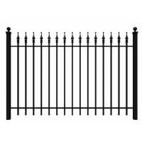 Fashionable Ornamental Iron Fence Parts Wrought Iron Components Powder Coated