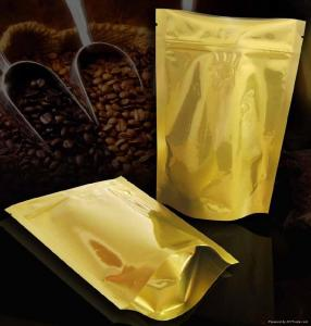 China Laminated Coffee Plastic Packaging Bags Self-Standing , PET / AL / PE on sale