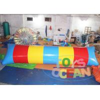 Big Colorful Lake Inflatable Water Blob Catapult Blob Trampoline 2 Years Warranty