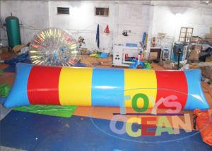 China Big Colorful Lake Inflatable Water Blob Catapult Blob Trampoline 2 Years Warranty on sale