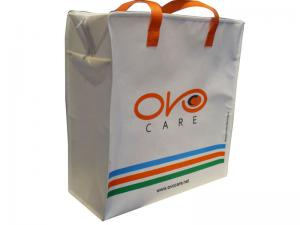 China 4 Color 90g White Non Woven Carry Bag, Reusable Shopping Bags With Matt Lamination on sale