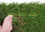 Warranty 5 Years Outdoor Artificial Grass / Synthetic Grass Lawn Olive Shape 4 Colors