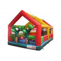 Forest Style Inflatable Fun City , Customized Size Blow Up Fun House