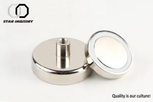China Different Diameter Pot Magnet N35 Grade High Durability OEM ODM Available on sale