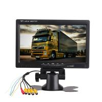 China 400/1 Quad Screen Car TFT LCD Monitor 7 Inch 16/9 Backup DC Port Power Supply on sale