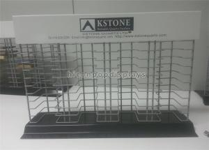 China Metal Wire House Decoration Stone Display Rack Countertop For Material Merchandising on sale