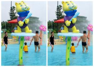 China Water Attractions Kids Water Playground Equipment Winnie Water Spray Parks on sale
