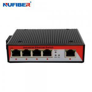 China 1000M Industrial Ethernet switch 5 Rj45 UTP port with Din-rail wall mount on sale