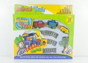 China Mini Wind Up Classic Train Set Kids Toy Vehicles with Railway Track 8 Pcs on sale